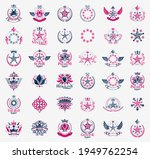 crowns and stars vintage...   Shutterstock .eps vector #1949762254
