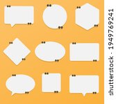 set of speech bubble quote... | Shutterstock . vector #1949769241