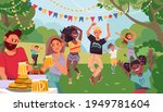 people on garden party.... | Shutterstock .eps vector #1949781604