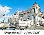 piazza venezia in rome   altar... | Shutterstock . vector #194978525
