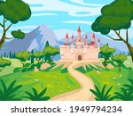 fantasy landscape with castle... | Shutterstock .eps vector #1949794234