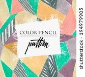 patchwork quilt. seamless... | Shutterstock .eps vector #194979905