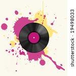 vinyl discs with colored spot | Shutterstock . vector #19498033