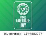 world fair trade day. holiday... | Shutterstock .eps vector #1949803777