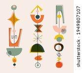 mid century modern style shape  ... | Shutterstock .eps vector #1949807107