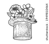 flowers in top hat cylinder... | Shutterstock .eps vector #1949810464