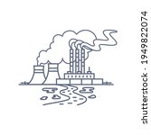 thermal power plant line icon....   Shutterstock .eps vector #1949822074