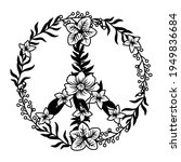illustration of a floral peace... | Shutterstock .eps vector #1949836684