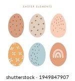 abstract easter eggs set  boho... | Shutterstock .eps vector #1949847907