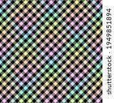 rainbow diagonal gingham on... | Shutterstock .eps vector #1949851894