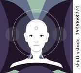 the portrait of humanoid robot. ... | Shutterstock .eps vector #1949868274