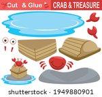 red crab standing on treasure... | Shutterstock .eps vector #1949880901