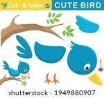 funny blue bird perch on tree... | Shutterstock .eps vector #1949880907