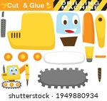 funny drilling tractor.... | Shutterstock .eps vector #1949880934