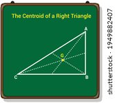 the centroid of a right angle...   Shutterstock .eps vector #1949882407