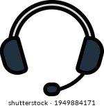 headset icon. editable bold...