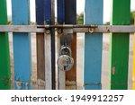Old Rusty Lock On School...