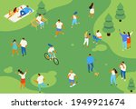 family picnic and summer rest.... | Shutterstock .eps vector #1949921674