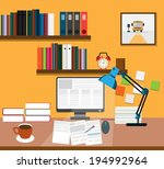 interior of working place | Shutterstock .eps vector #194992964