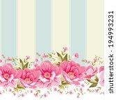 ornate pink flower border with... | Shutterstock .eps vector #194993231