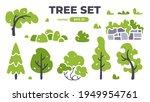 trees set. plants isolated.... | Shutterstock .eps vector #1949954761