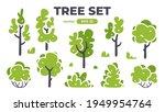 trees set. plants isolated.... | Shutterstock .eps vector #1949954764