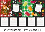 set with vegetarian recipes.... | Shutterstock .eps vector #1949955514