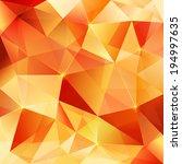 Orange Crystal Vector Abstract...