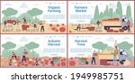 vector cartoon flat farmer... | Shutterstock .eps vector #1949985751