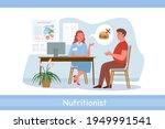 nutrionist doctor examination ...   Shutterstock .eps vector #1949991541
