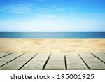 sandy beach on sunny day with... | Shutterstock . vector #195001925