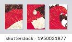 line art design of waves ... | Shutterstock .eps vector #1950021877