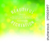 blue bokeh abstract light... | Shutterstock .eps vector #195003497