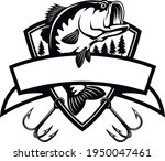 bass fish and fishing hook  ... | Shutterstock .eps vector #1950047461