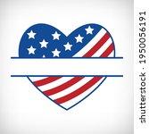 patriotic heart monogram for t...   Shutterstock .eps vector #1950056191