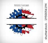 patriotic sunflower monogram...   Shutterstock .eps vector #1950056194
