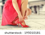 sexy legs and skirt  | Shutterstock . vector #195010181