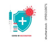 covid 19 vaccination.... | Shutterstock .eps vector #1950110071
