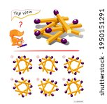 logic puzzle game for children... | Shutterstock .eps vector #1950151291