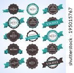 vintage labels  | Shutterstock .eps vector #195015767