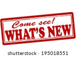 stamp with text what new inside ... | Shutterstock .eps vector #195018551