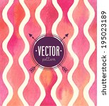 vector watercolor seamless... | Shutterstock .eps vector #195023189