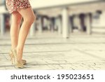 vintage photo of legs and... | Shutterstock . vector #195023651