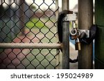 Closeup Of A Locked Padlock...