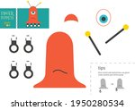 cut and glue paper toy vector...   Shutterstock .eps vector #1950280534