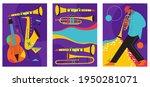 set of jazz festival posters.... | Shutterstock .eps vector #1950281071