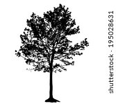 tree silhouette isolated on... | Shutterstock .eps vector #195028631
