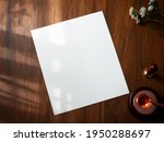 mockup white blank space folded ... | Shutterstock . vector #1950288697