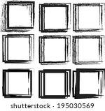 grunge frames. vector... | Shutterstock .eps vector #195030569