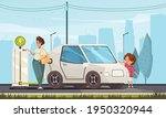 young family charging electric... | Shutterstock .eps vector #1950320944